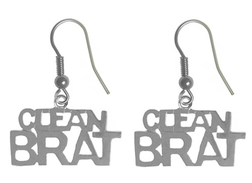 Narcotics Anonymous Clean Brat Sterling Earrings