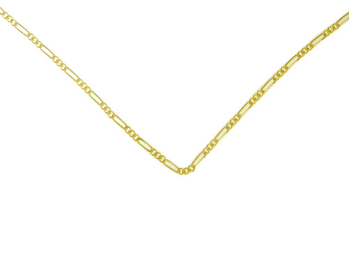 Style #217-14, $210-$285, Lt. Figaro Chain, 14k Gold, Available in 3 Different Sizes