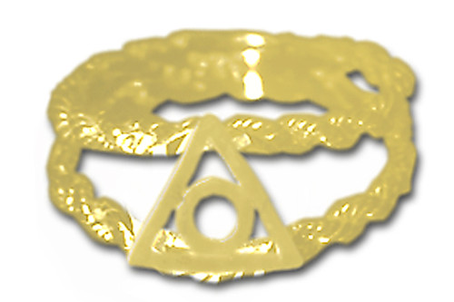 Style #790-16, 14k Gold, Family Recovery Symbol on a Open Rope Style Band