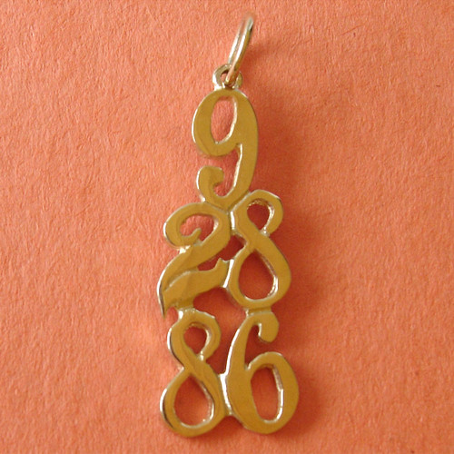 Style #406, 14k Gold, Custom Dates, $180-$260, Celebrating All Occasions; Recovery, Anniversary, Birthdays