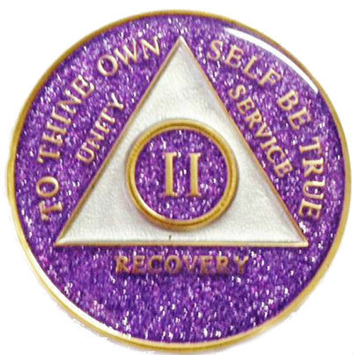 sobriety recovery medallion.