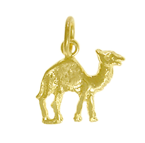 "Style #70-16, 14k Gold Pendant, Adorable Camel ""Can Go 24 Hours Without A Drink"""