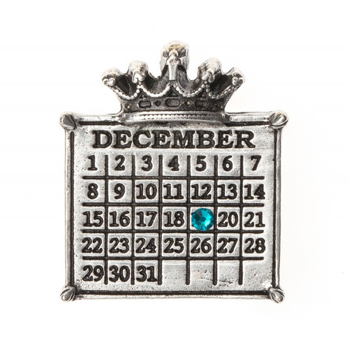 """Your Special Day"" Crown Calendar Charm (Ball chain included)"