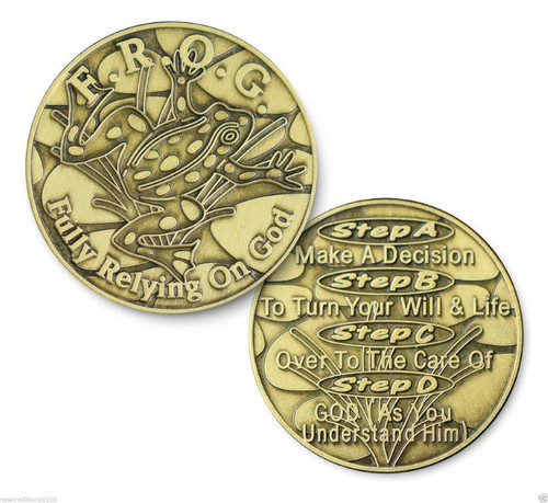 F.R.O.G. Fully Relying On God Bronze Coin