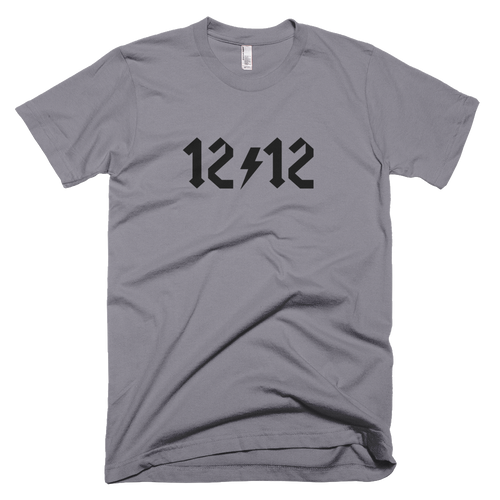 Twelve Traditions and Twelve Steps ACDC style graphic for the men in this fine jersey cotton tee by American Apparel.