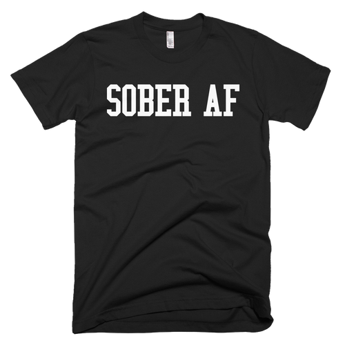 "Men's ""Sober AF"" Black Anvil Lightweight Apparel T Shirt"