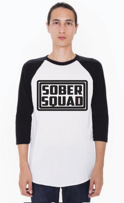 Sober Squad Raglan Tee! Unisex T-Shirt - Join The Squad