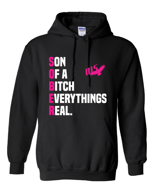 Ladies hoodie for the fall and winter. Awesome way to show your recovery.