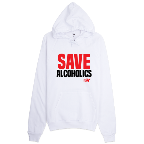 Save Alcoholics Heavy Blend Unisex Hoodie