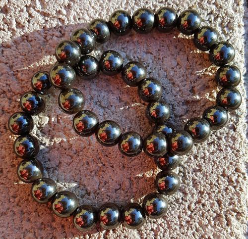 8mm Hematite Magnetic Anti-Hysteria Stone Male & Female Bracelets - Quiet Spirit Stone