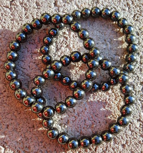 6mm Hematite Magnetic Anti-Hysteria Stone Male & Female Bracelets - Quiet Spirit Stone