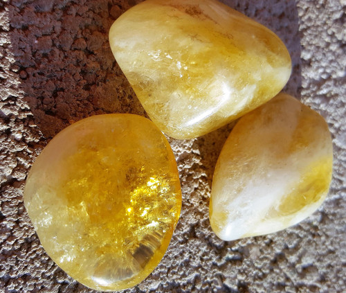 Extra Large Natural Citrine Tumbled Crystal - Positive Mind - Positive Vibes - Positive Life!