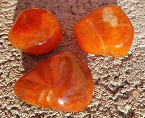 Large Natural Carnelian Tumbled Crystal - Love, Elegance and Sexual Excitment