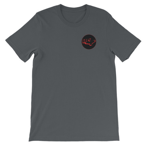front on mens t-shirt is our signature DIS logo!