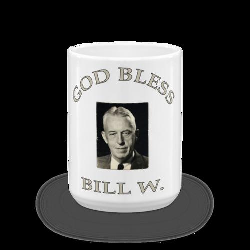 Ceramic God Bless Bill W. Mug
