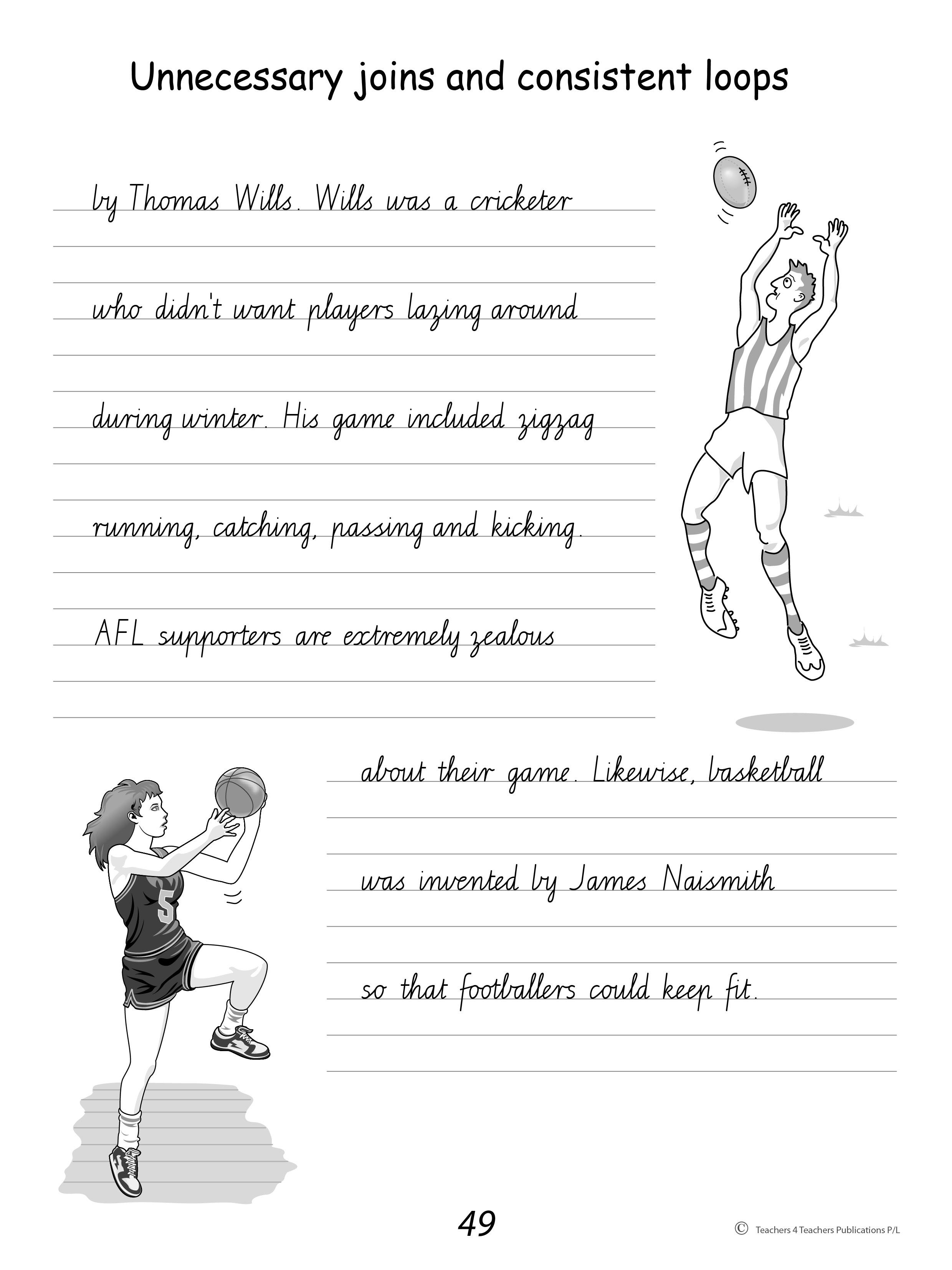 Free Handwriting Worksheets For Year 4 Nemetasfgegabeltfo