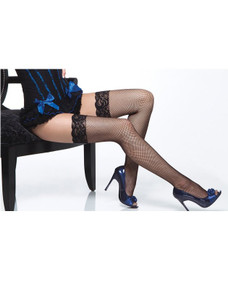 Fishnet Stockings with Lace Tops