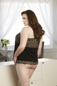 Ultra Soft Short Slip in Lurex Lace