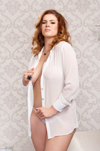 Chiffon Button Down Sleep Shirt in White