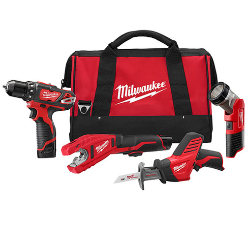 Milwaukee M12™ COMBO 3/8 DRVDRL/HACKZ/COPPER TUBE CUTTER/LGT