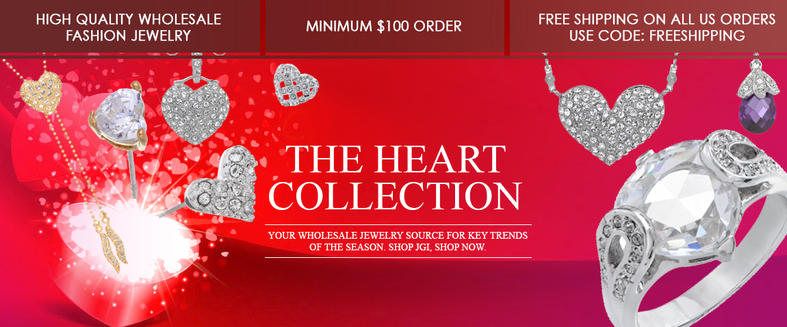 Shop JGI Jewelry for the heart collections | the latest trends in Wholesale Fine Fashion Jewelry. Shop Valentines Day 2015 with us, at JGI.