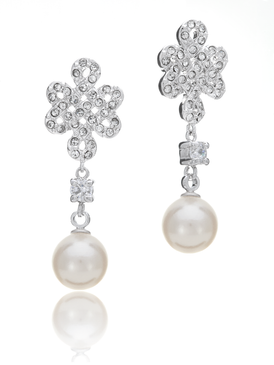 Eternal Braided Knot Pearl Earring 430329