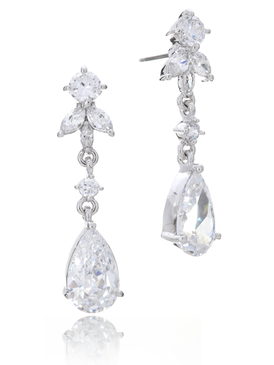 Elizabeth Statement CZ Earrings 21482