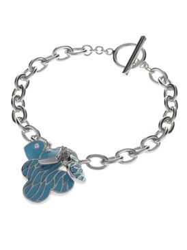 Three-Leaf Clover Heart Charm Bracelet  | Bracelets