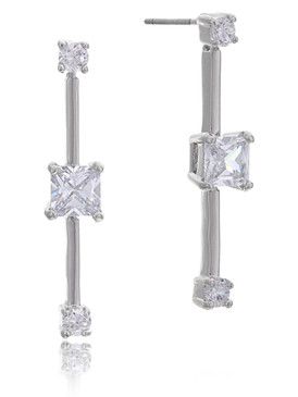 Alison's Square CZ Earrings  | Earrings
