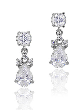 Georgie's CZ Teardrop Earrings  | Earrings
