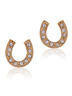 Crystal Horseshoe Stud Earrings 32339