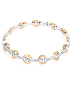 April's Crystal Circle Link Bracelet  | Bracelets