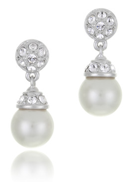 Alma's Crystal & Pearl Earrings  | Earrings