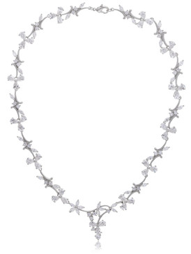 Dafne's CZ Floral Vine Necklace  | Necklaces