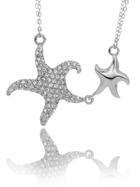 Crystal Double Starfish Necklace 4 | Necklaces