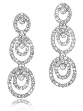 Dakota's Crsytal Oval Earrings  | Earrings