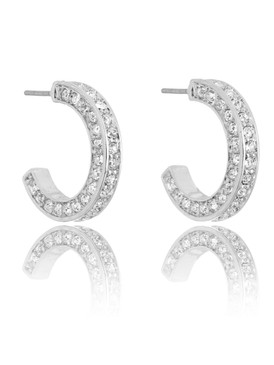 Crystal Horseshoe Earrings  | Earrings