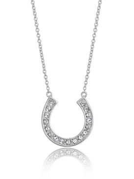 Crystal Horseshoe Pendant Necklace  | Necklaces