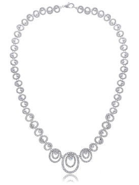 Dakota's Crsytal Oval Chain Necklace 4 | Necklaces