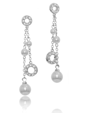 Jillian's Crystal & Pearl Lariat Earrings 4 | Earrings