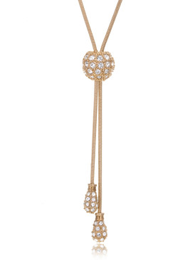 Crystal Dome Lariat Necklace  | Necklaces