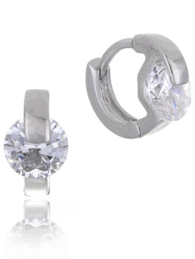 Christina's CZ Huggie Earrings  | Earrings