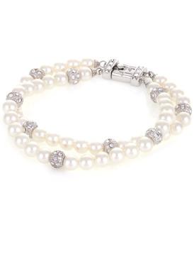 Sarah Double-Strand Pearl Bracelet  | Bracelets