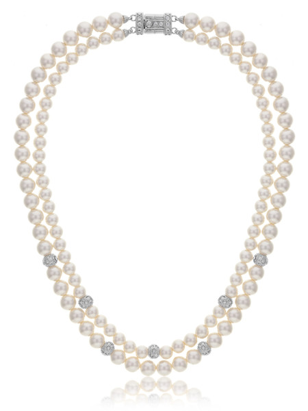 Sarah Double-Strand Pearl Necklace  | Necklaces