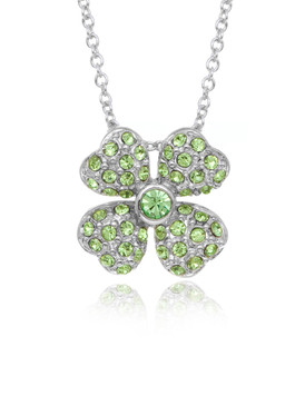Four Leaf Clover Crystal Pendant 33788