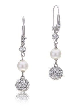 Avon's Crystal Pearl Drop Earrings  | Earrings