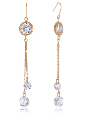 Dahlia's Crystal Drop Lariat Earrings  | Earrings