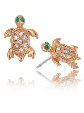 Cute Turtle Crystal Earrings  | Earrings