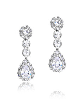 Gabriel's CZ Teardrop Earrings  | Earrings