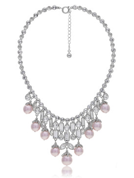 Alexandra's Crystal Pearl Necklace 4 | Necklaces